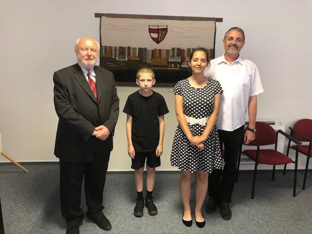 Vyznamenaní žáci starostou MČ Brno Vinohrady